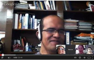 #HealthXPh's Hangout On Air sample screenshot..